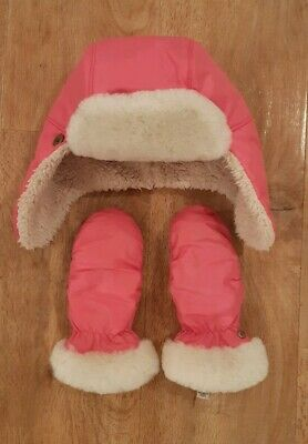 Girls Hat and Glove Set Ugg Boxed