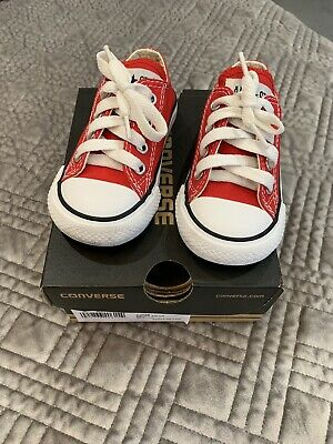 Baby Red Converse Size 21/5