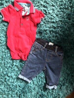 Ted Baker Bundle Boys Jeans And Polo Vest 0-3 Months