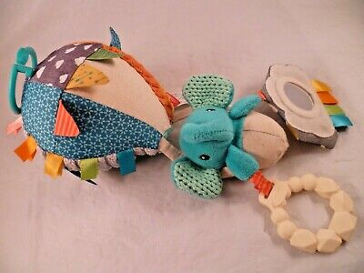 Infantino Air Balloon Elephant Baby Activity Teething Rattle Stroller Plush Toy