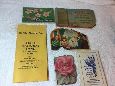 Vintage Sewing Needle Packs. Some Advertising Mixed Lot Of 6