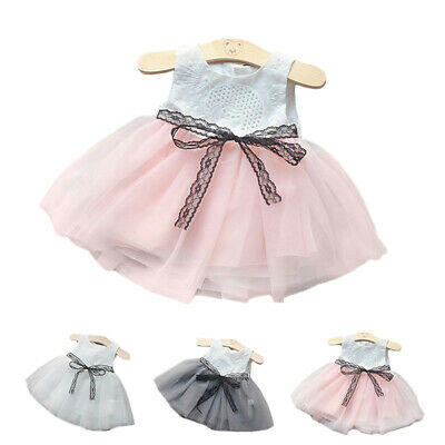 Baby Infant Girls Sleeveless Cute Dress Round Neck Slim Fit Party Casual Dresses