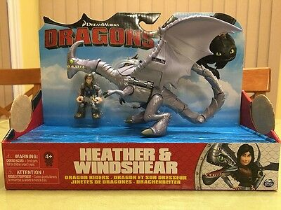 Dreamworks How to Train Your Dragons Heather & Windshear Dragon Riders NEW