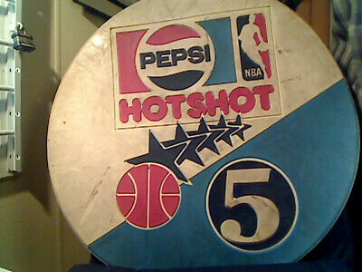 Pepsi Advertising Hotshot Competition Mat. NBA, Basketball. Sports Collectible