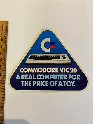Vintage Sticker Commodore VIC20 A Real Computer For The Price Of A Toy 64