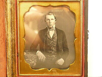 Sixth Plate Daguerreotype Of A Young Man Blind In One Eye 1840'S