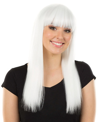 Fashion Deluxe White Long Wig One Size