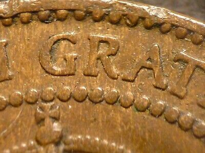 1908 Canada large cent S/L Obverse Legend DDO variety (with rim damage)