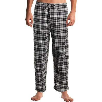 Rugged Frontier Men's Flannel Plaid Sleepwear Lounge Pants Black/White Size L