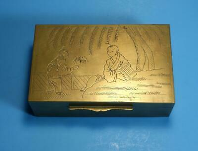 A High Quality Antique Chinese Engraved Copper Box - 19C Trade Period