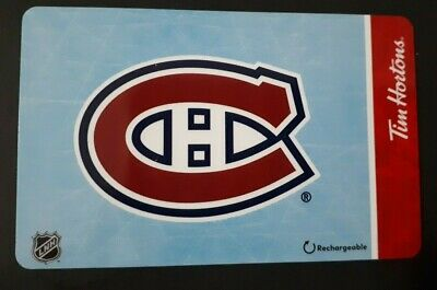 Tim Hortons Gift Card NHL Montreal Canadiens NEW Team Logo 2019