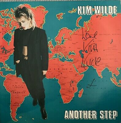 KIM WILDE ~ Another Step ~ Rare GENUINE 1986 AUTOGRAPHED 12-track vinyl LP~AFTAL