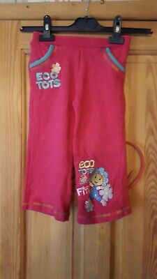 Girls Red Fifi And The Flower tots Tracksuit Bottoms Size 2/3 Years