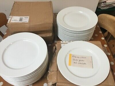 white china catering cafe plates job lot