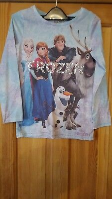 Girls Next Frozen Long Sleeved Top Size 9 Years