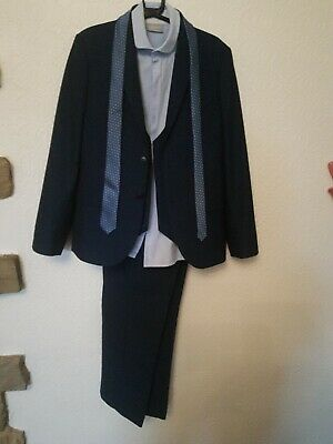 Next Signature Boys Navy Suit Set with shirt and tie Age 10