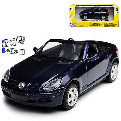 Mercedes-Benz SLK R171 Cabrio Dunkel Blau 2. Generation 2004-2011 1/43 New Ray..