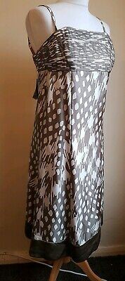 Stunning New Silk Dress By Ted Baker Size 1 Uk 8 Bnwt Rrp £150 Free P&P