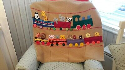 Hand Knitted Baby Blanket By Sally Kelly