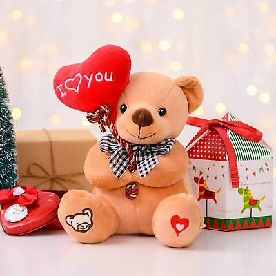 Valentines Day Gift Teddy Bear Plush with Heart ''I Love You'' Best Gift for Her