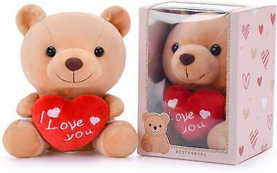 Valentines Day Gift Small Teddy Bear Plush with Heart '' I Love You'' Best Gift