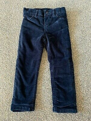 Girls Fleece Lined Navy Corduroy Trousers/Jeans From BABY GAP - Size 2 years