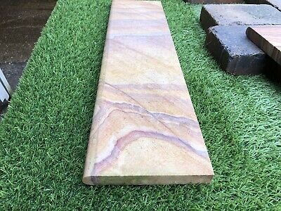 delivery cost below SMOOTH SANDSTONE ROUNDTOP RAINBOW EDGING 450X150X30 21620