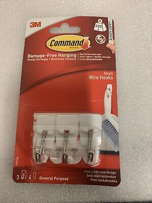 3M Command Damage Free Hanging Small Medium Large Strips Hooks