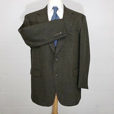 Austin Reed Brown Check Mens 46R Wool Classic 2 Button Sport Coat Blazer Jacket