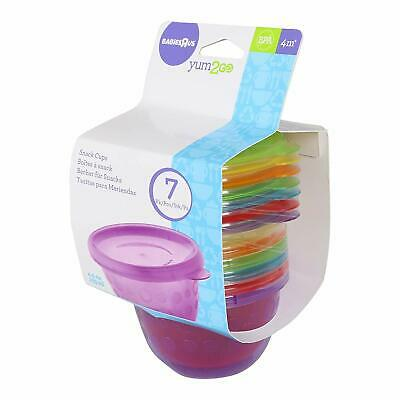 14 Pack of Baby Food Storage Containers Reusable Snack Cups Lids tippitoes New