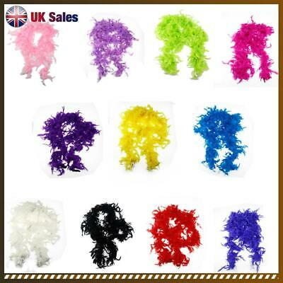 180cm Feather Boa Birthday Fancy Dress Accessory Night Deluxe Showgirl Hen UK
