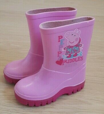 Girls Pink Peppa Pig Wellies. Size 4. Excellent condition
