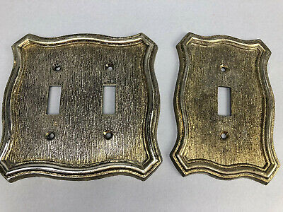 Vintage American Tack Light Switch Cover Plates 70T Single 70TT Double 1968