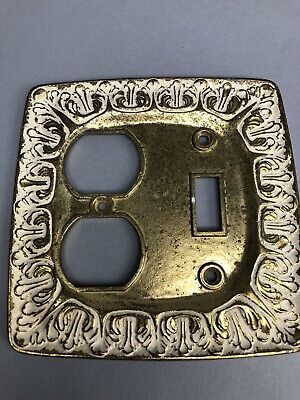 Vintage Light Switch Plate Cover Outlet Cover Brass Ornate Victorian LR28847