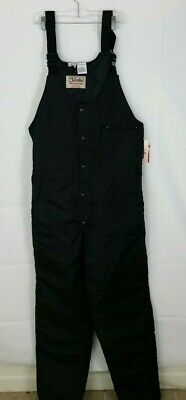 Walls Blizzard Pruf Large Men's Overalls Black Insulated Bibs Snow Pants NWT