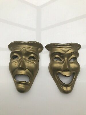 COMDEY TRAGEDY FACE SOLID BRASS THEATRICAL Masks 🎭