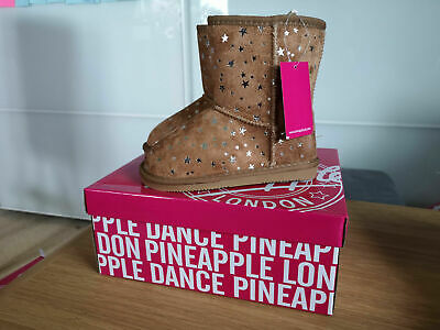 infant girls Pineapple Ankle winter Boots uk size 12  kids junior  shoes