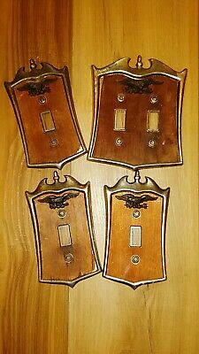 Older style light switch covers and outlet covers lot of 4 with eagle