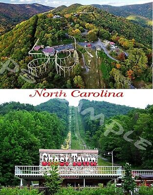 NC - GHOST TOWN IN THE SKY #7 (collage) - Travel Souvenir Flexible Fridge MAGNET