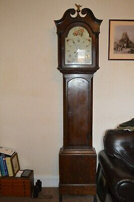 Very Nice Victorian Oak 8 Day Grand Father Clock