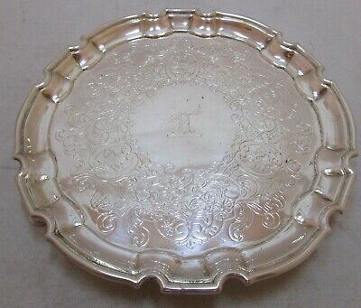 Antique Georgian Sterling silver salver, 6.75 inch, 245 grams, 1731