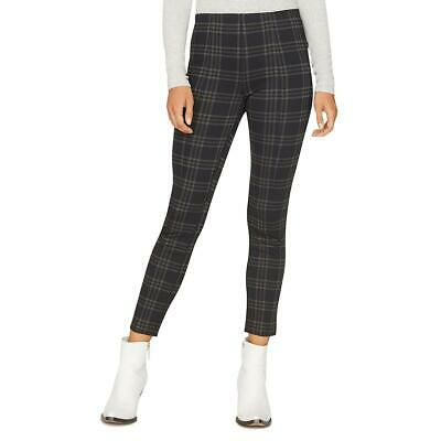 Sanctuary Womens Black Seamed Plaid Cropped Leggings XS BHFO 7070