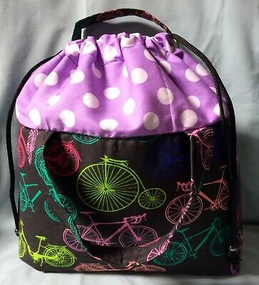 Handmade Bicycle Design Project/Craft Bag - Perfect for Knitting/Crochet