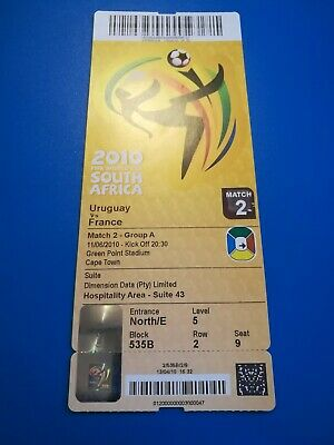 Ticket COUPE DU MONDE FOOTBALL 2010 France - Uruguay