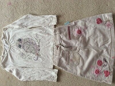 Girls set: long sleeved top and skirt Barbie! Age 4-5 y.o. Good used condition