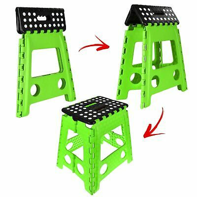 Home Garage Kitchen Easy Foldable Chair Seat For Large Folding Step Stool Green