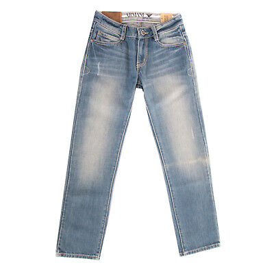 ARMANI JUNIOR Jeans Size 8Y / 130CM Distressed Faded Effect Regular Fit