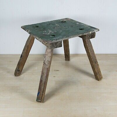 """1900-1920s former """"Tic-tac"""" man's 4-legged stool used at Horse Race Meetings"""