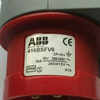 ABB 416BSFV6 IP44 Red Panel Mount 3P+N+E (R5S10.7)