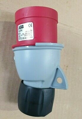 ABB 432P6  IP67 Red Cable Mount 3P+N+E Industrial Power Plug  (R5S10.7)